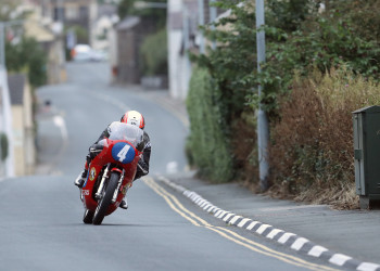 24/08/2017: Michael Rutter (350 Honda/Ripley Land Racing) pictured in Kirk Michael village during Thursday's qualifying session for the Bennett's Classic TT. PICTURE BY DAVE KNEEN/PACEMAKER PRESS