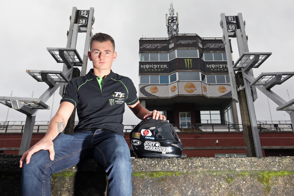 10/12/2016: 2017 Isle of Man TT newcomer Joey Thompson pictured at The Grandstand whilst on the Island doing some familiarisation laps of the Mountain Course. PICTURE BY DAVE KNEEN